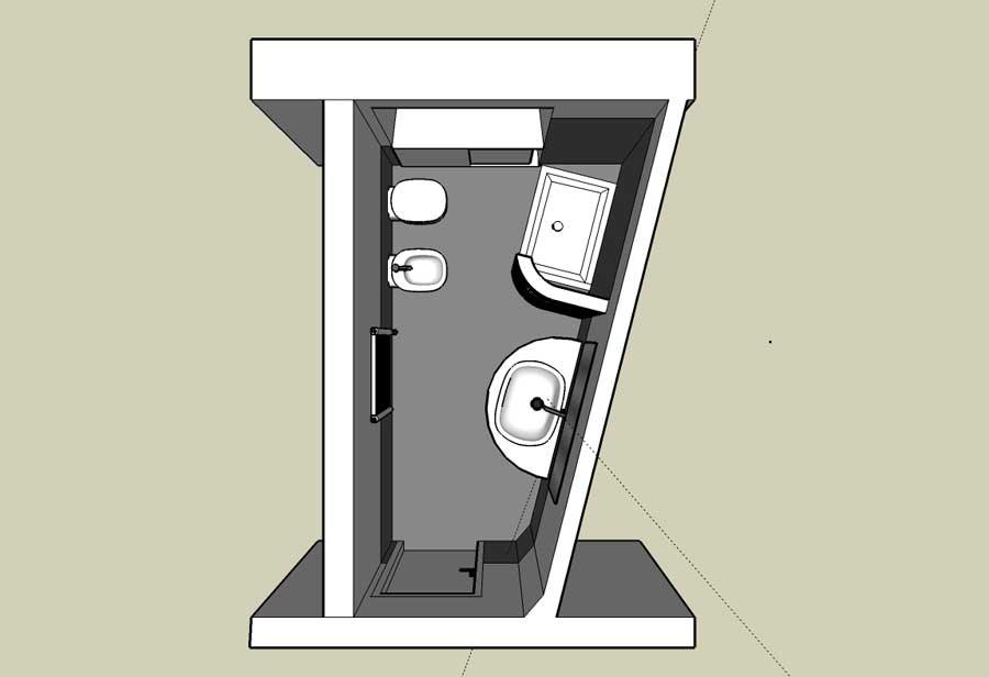 Progetto bagno 3d gratis progettare casa online gratis d - Disegnare bagno gratis ...